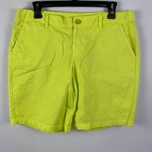 GAP 8 Neon Yellow Shorts Khakis Long Bermudas